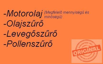 Skoda Octavia II. 1.6 (102Le, 75KW) szűrőszett + Total Quartz Ineo Long Life 5W30 - 5L